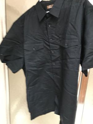 3de07385 Cafe Luna - Men's Two Pocket Linen Cotton Shirt - Walmart.com