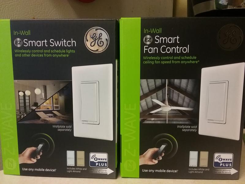 GE Z-Wave Plus In-Wall Smart Paddle Switch, Hub Required, 14291