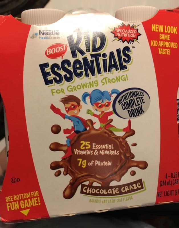 boost kid essentials fiber nestle health science