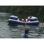 Intex Oasis Island Inflatable 5-Seater Lake/River Floating ...