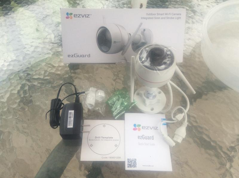 EZVIZ ezGuard 1080p - Wireless Wi-Fi Security Camera with Remote Activated  Alarm System