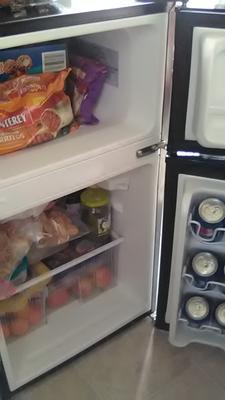 Arctic King 3 2 Cu Ft Two Door Mini Fridge with Freezer