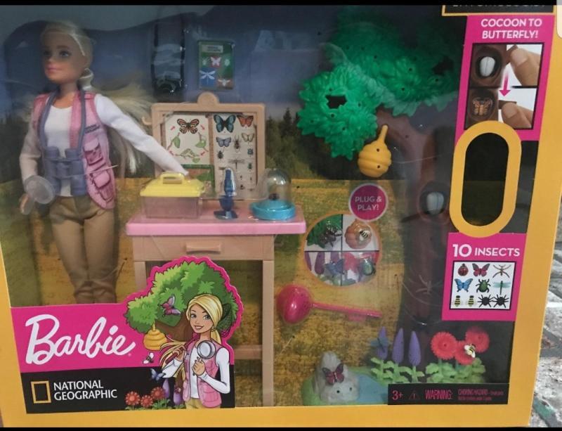 Barbie Doll Blond Fashionista National Geographic Entomologist DOLL /& CLOTHING