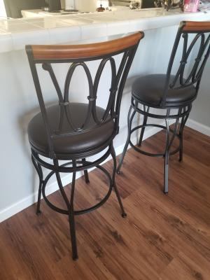 Fantastic Better Homes Gardens Adjustable Barstool Oil Rubbed Customarchery Wood Chair Design Ideas Customarcherynet