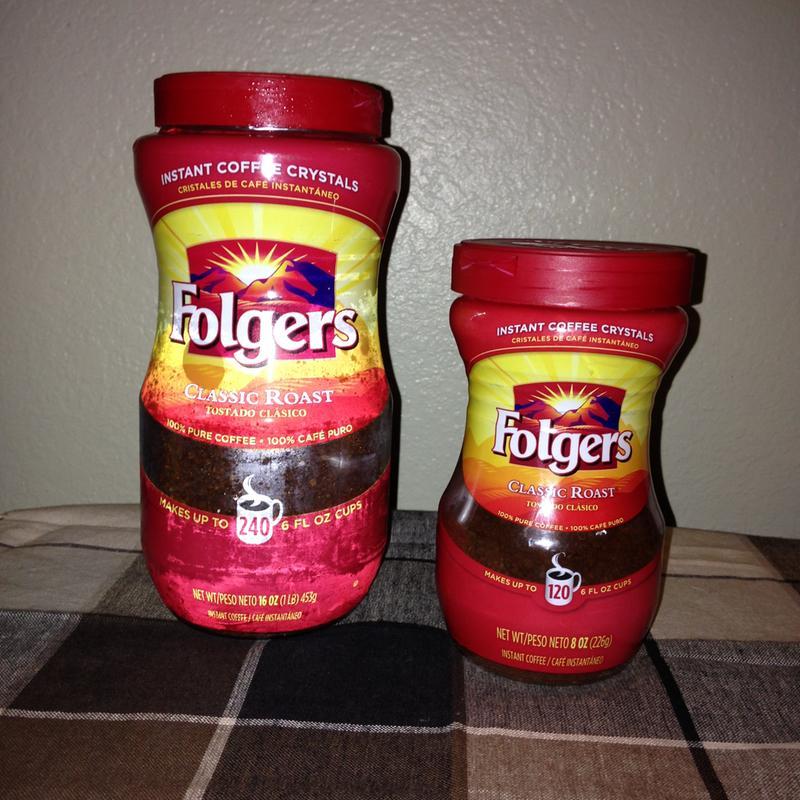 Folgers Classic Roast Instant Coffee Crystals 12 Ounce Easy Open Flip Top Jar Walmart Com Walmart Com