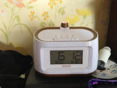 Sharp Projection Alarm Clock with Soothing Nature Sleep Sounds Easy to Read