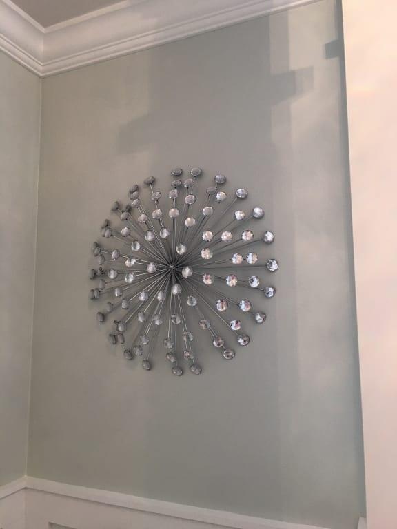 Stratton Home Decor 24 Silver Acrylic Burst Wall Decor Walmart Com Walmart Com
