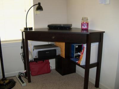 Beau Sauder Beginnings Corner Computer Desk, Cinnamon Cherry   Walmart.com