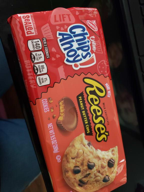 Chips Ahoy Chewy Chocolate Chip Cookies With Reese S Peanut Butter Cups 9 5 Oz Walmart Com Walmart Com
