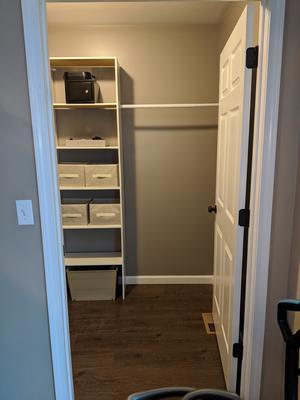 """VERTICAL CLOSET ORGANIZER 24/"""" Storage Shelf System Clothes Shelves Rods White"""