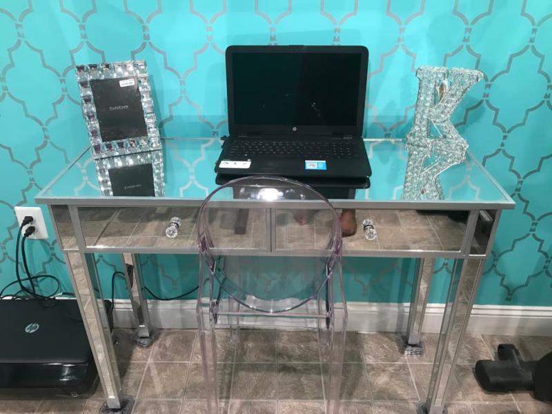 Gold Coast Mirrored Desk Vanity