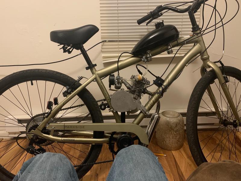 """Sage Green Men/'s 27.5/"""" Parkside SE 7-Speed Comfort Bike with Perfect Fit Frame"""