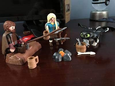 Playset HICCUP ASTRID Baby Drago Original PLAYMOBIL Dragons Dragon Trainer 70040