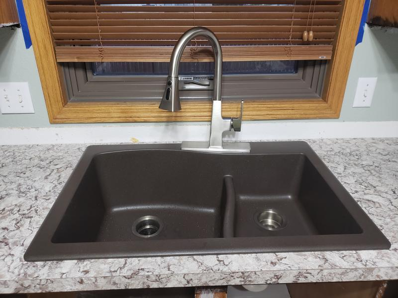 Kraus Quarza 33 Dual Mount 60 40 Double Bowl Granite Kitchen Sink In Brown Walmart Com Walmart Com