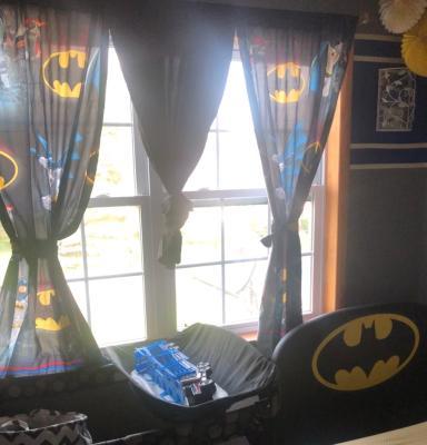 Batman Bedroom Curtains Kids Boys Room Window Polyester Pair Drapes Gift Decor Rolety Firany I Zaslony A2btravel Ge