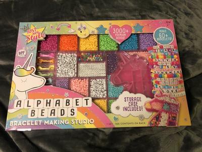 premium Beads Alphabet Beads Bracelet making studio Just My Style 3000