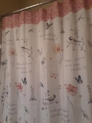 """70/"""" x 72/"""" Machine Wash NEW Mainstays Inspire Fabric Shower Curtain Multicolor"""