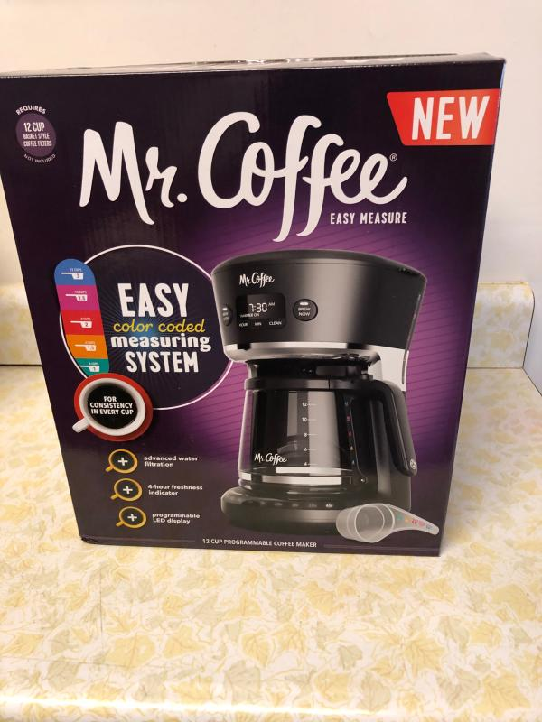 Mr Coffee Easy Measure 12 Cup Programmable Coffee Maker Black Walmart Com Walmart Com