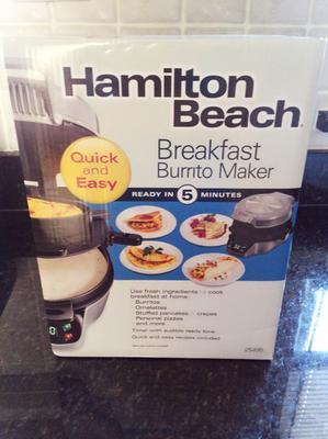 Hamilton Beach Silver 25495 Breakfast Burrito Maker 9 8 X 8 7 X 5 6 Inches Walmart Com Walmart Com