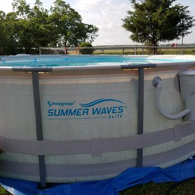 Summer Waves Elite 16 X 48 Round Premium Metal Frame Above Ground Swimming Pool With Deluxe Accessory Set Walmart Com Walmart Com