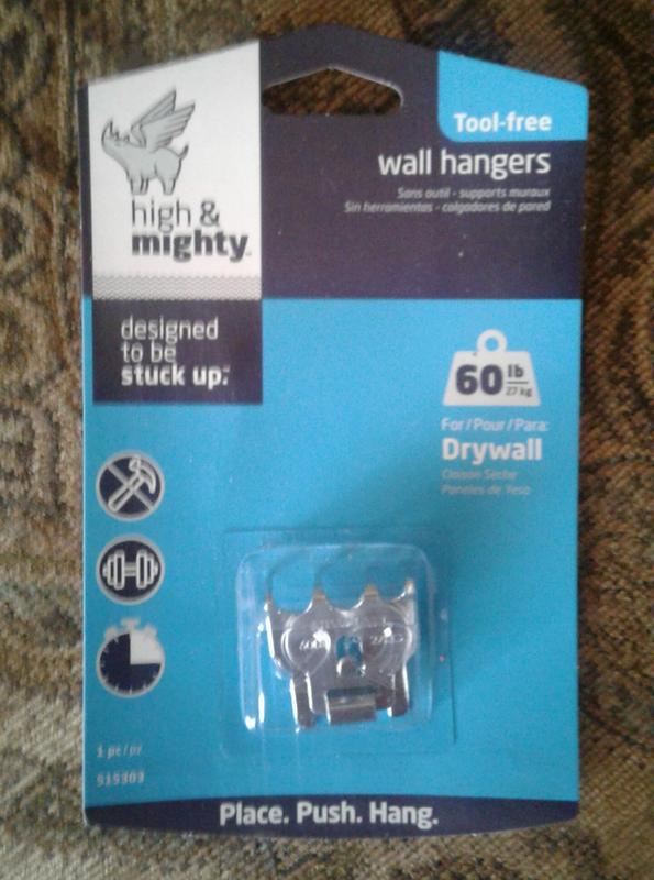 High And Mighty 20lb Picture Hanger Tool Free Kit Walmartcom
