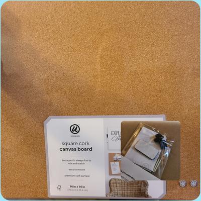 23 x 23 Inches 2874U00-01 Natural U Brands Square Cork Canvas ...