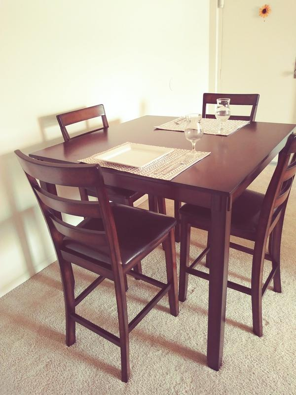40f23d8b7766d8 Signature Design by Ashley Coviar 5 Piece Counter Height Dining Table Set -  Walmart.com