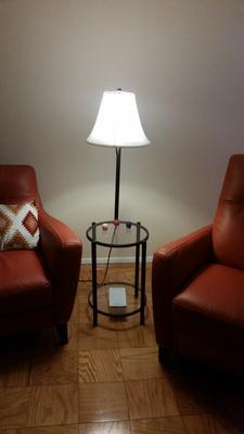 Mainstays Transitional Gl End Table Lamp Matte Black