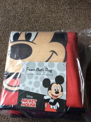 Disney Mickey Foam Bath Rug 1 Each