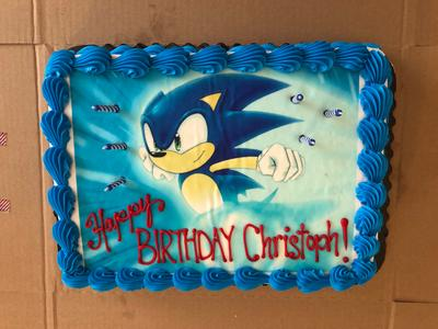 Sonic The Hedgehog Running Edible Cake Topper Frosting 1 4 Sheet