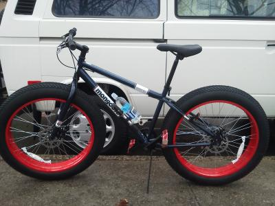 26 Mongoose Dolomite Men S 7 Speed Fat Tire Mountain Bike Navy