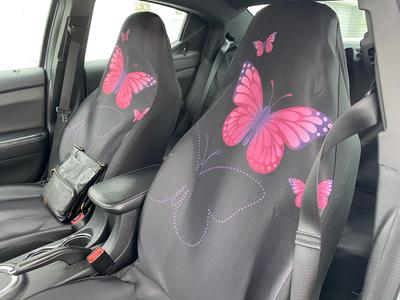 BIGCARJOB Butterfly Print Car Accessiores,Full Set of 11 Piece,Front Seat Cover,Floor Mat,Windshield Sunshade,Center Console Cover,Streering Wheel Cover,Belt Cover,Universal Fit
