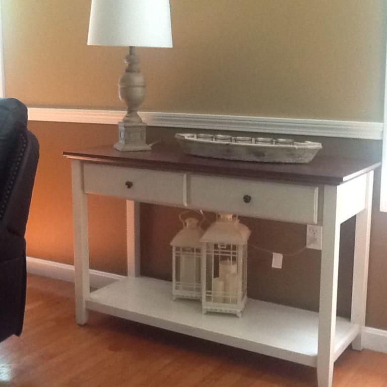 Charleston Sofa Table Com - Simple Living Emilia Blue Sofa Table