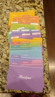 4x6 Citron Recipe Card Dividers for Recipe Cards