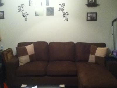 Fabulous Acme Vogue Sectional Sofa Chocolate Microfiber Bralicious Painted Fabric Chair Ideas Braliciousco