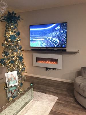 Surprising Northwest 50 Inch Wall Mounted Electric Fireplace With Color Changing Led White Download Free Architecture Designs Intelgarnamadebymaigaardcom