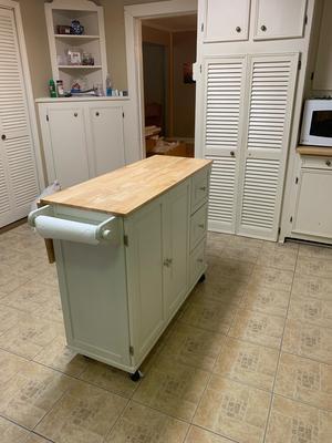 Home Styles Liberty Kitchen Cart W Wood Top Walmart Com Walmart Com