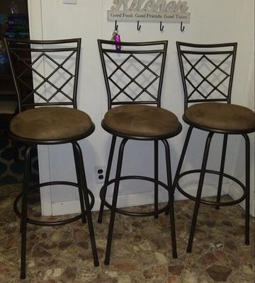 8825ce839b91 TMS Avery Adjustable-Height Bar Stool, Multiple Colors, Set of 3 -  Walmart.com