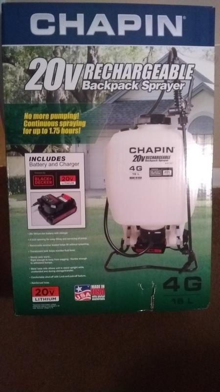 Chapin International Rechargeable 4 Gallon 20v Battery Sprayer