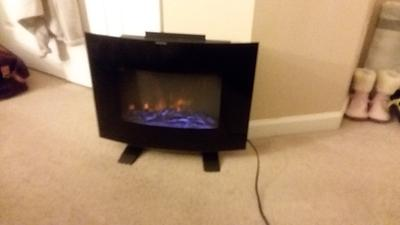 Mainstays Freestanding Or Wall Mounted Fireplace Heater Black