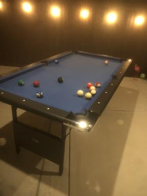 Hathaway Fairmont Portable 6 Ft Pool Table For Families With Easy Folding Storage Includes Cues Chalk In Indonesia 46691245 - How To Mark A 6ft Pool Table