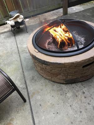 Classic Stone SUN JOE SJFP35-STN Cast Stone Fire Pit