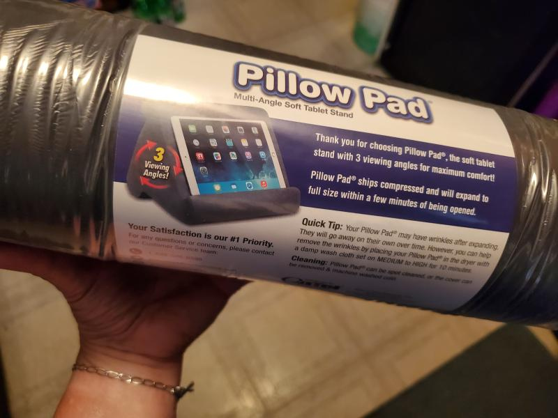 Pillow Pad Multi Angle Cushioned Tablet And Ipad Stand Space Gray