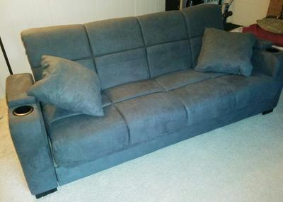 Mainstays Tyler Sleeper Sofa Bed With Storage Multiple Colors Walmart Com Walmart Com