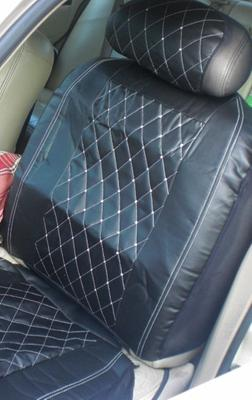 Premium Diamond Seat Cover With Crystals From Swarovski Black