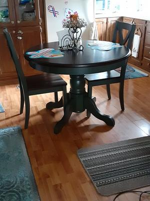 Better Homes And Gardens Cambridge Place Dining Table Multiple Finishes Walmart Com Walmart Com