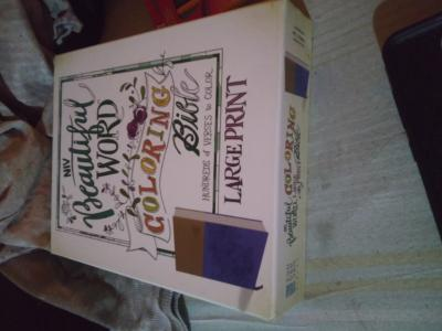 Niv Beautiful Word Coloring Bible Large Print Imitation Leather Purple Tan Large Print Walmart Com Walmart Com