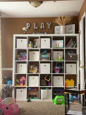 Better Homes And Gardens 25 Cube Organizer Room Divider White Walmart Com Walmart Com