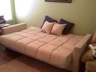 Baja Convert A Couch Futon Sofa Bed Khaki Walmart Com