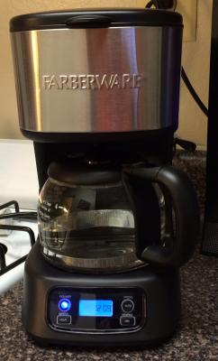 Farberware 5 Cup Programmable Coffee Maker Black Stainless